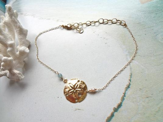 sand dollar bracelet   (&アンクレット)