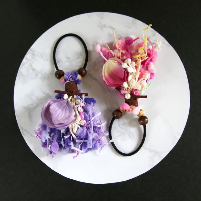 花びらのゴム飾り
