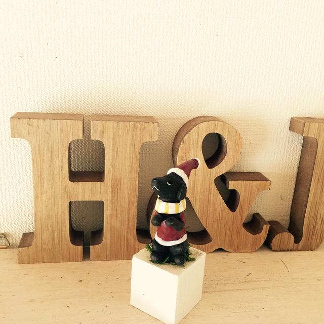 ☆小さな植木鉢*クリスマスdog黒