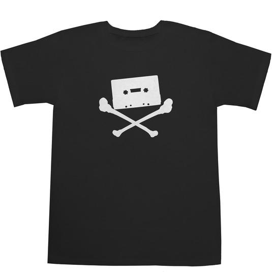 Cassette Tape Skull Tシャツ