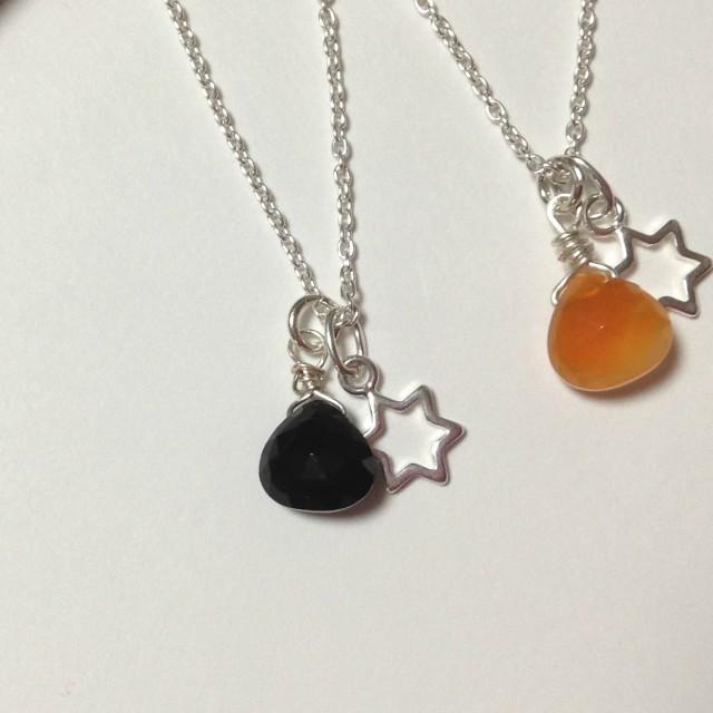 SV925オニキスと六光星のネックレス(シ...