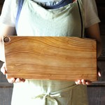 wooden serving board (square)穴あり.2