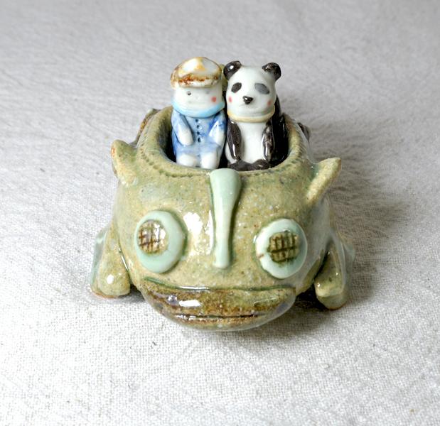 ケロ号でGO---! パンダと僕の二人乗り...