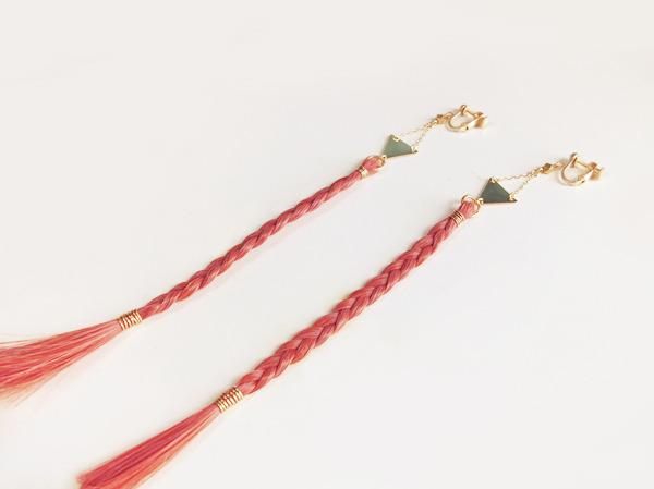 【sさま】フルオーダー専用 三つ編みイヤリング