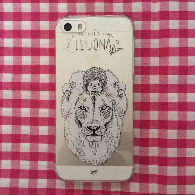 ハリネズミのiPhone5(s)ケース(ライオン)