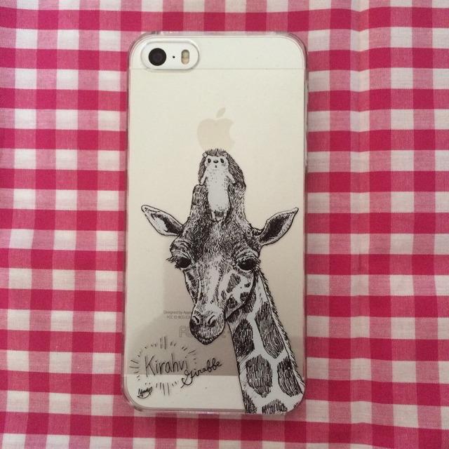 ハリネズミのiPhone5(s)ケース(キリン)