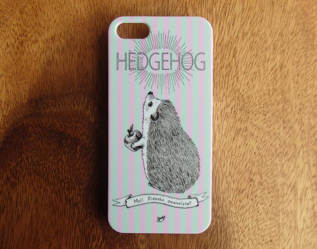 ハリネズミのiPhone6Plusケース(ストライプ)