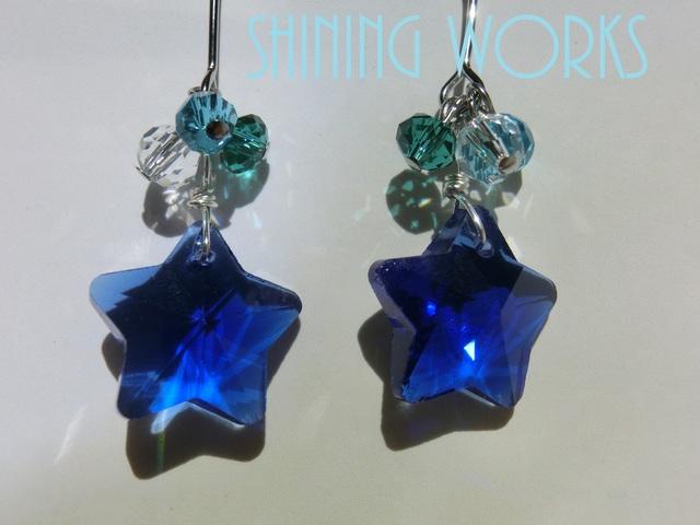 青い星〜blue star〜ピアス シルバー