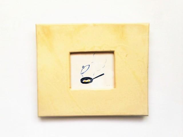 目玉焼き ※陶器の額縁入り