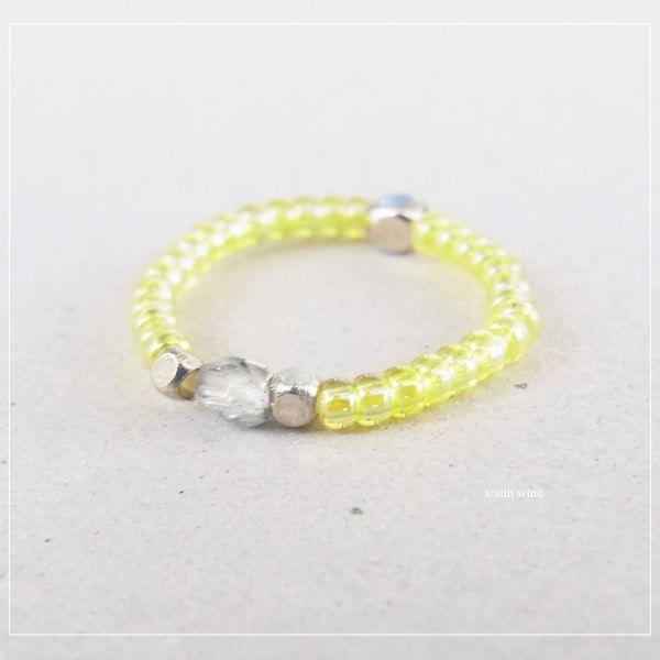 《花鳥風月》のリング(Light Yellow)