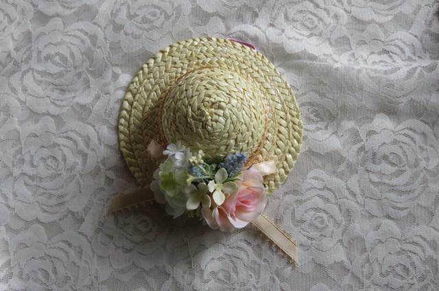 ミニ麦わら帽子