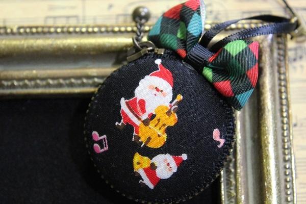 マカロンポーチ(クリスマス:3☆ブラック)