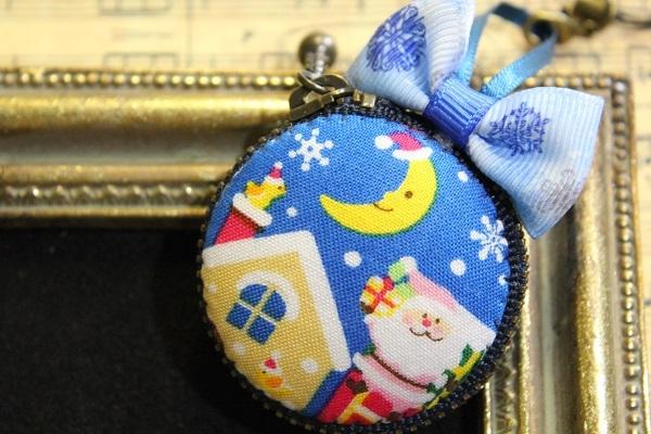 マカロンポーチ(クリスマス:3☆ブルー)