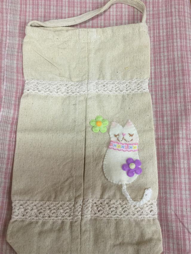 白猫さんテッシュボックスカバー