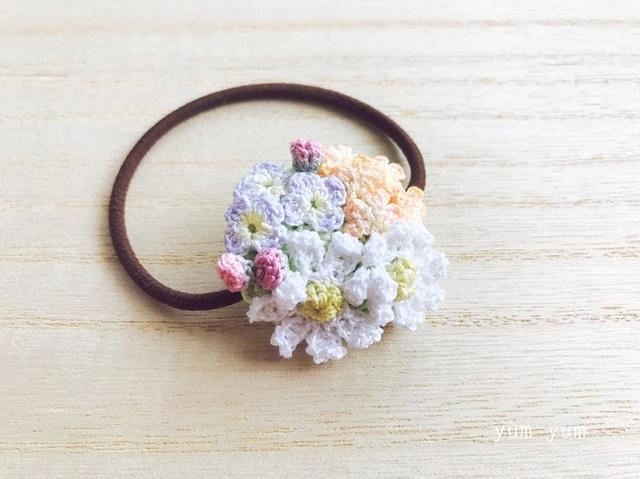 草花のブーケヘアゴム4