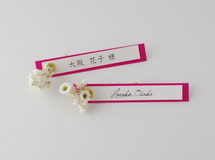 席札FES☆[ name plate/berrypink ]for wedding1セット10枚-席札