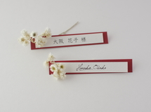 席札FES☆[ name plate/red brown ]for wedding1セット10枚-席札
