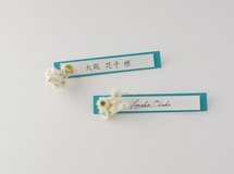 席札FES☆[ name plate/turquoise blue ]for wedding1セット10枚-席札
