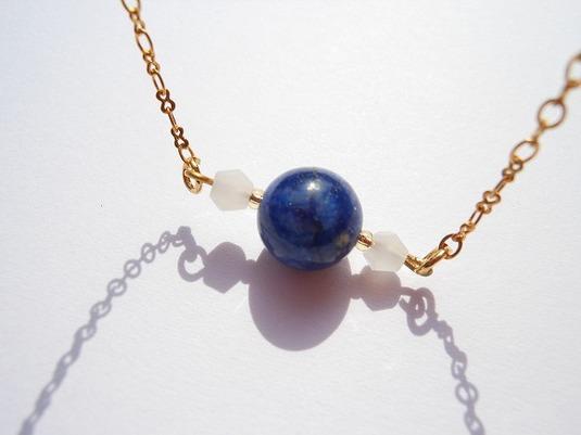 青い地球 瑠璃のネックレス