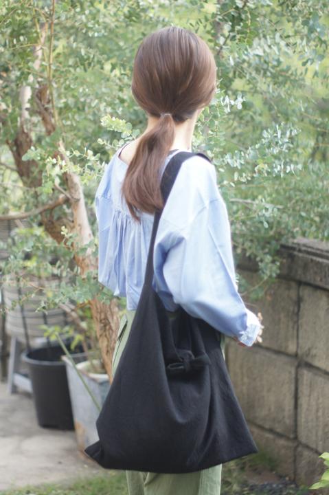 ★new★綿麻リボンのショルダーバッグ(...