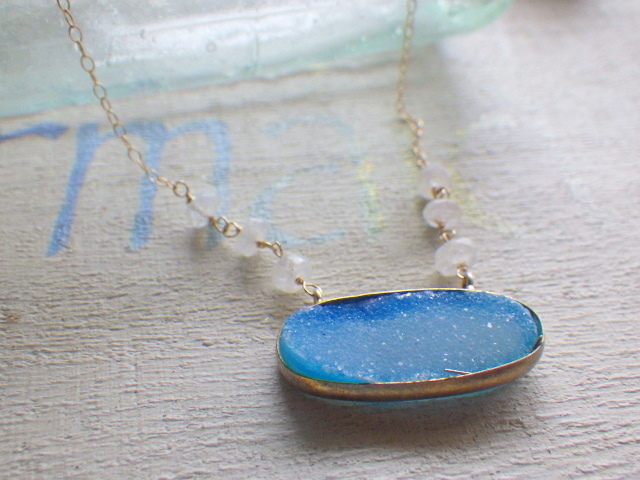 ??再販??Ocean Druzy Necklace??ドゥル...