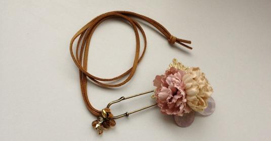 tolerance PURPLE. pin & Necklace