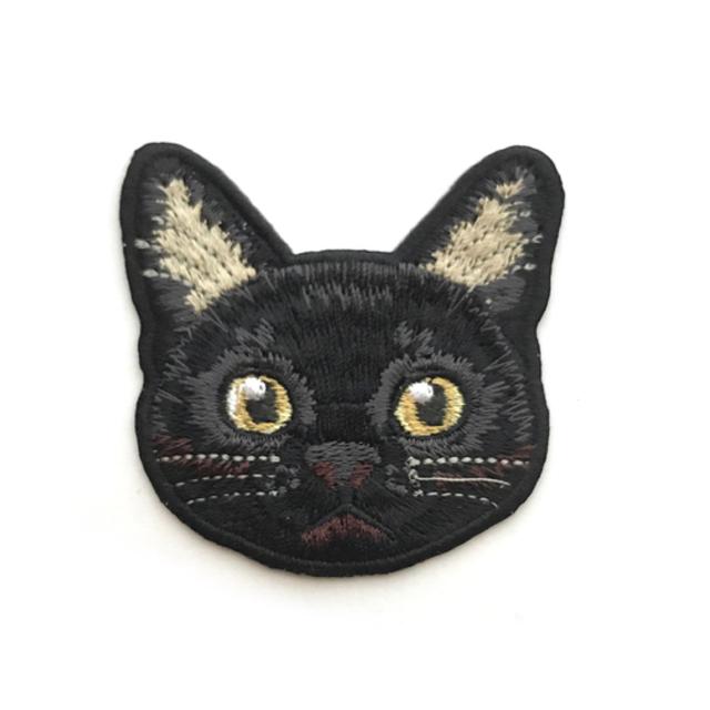 クロネコの刺繍ワッペン