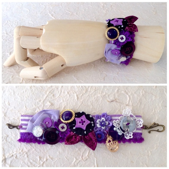 cuffs bracelet  #2(purple)