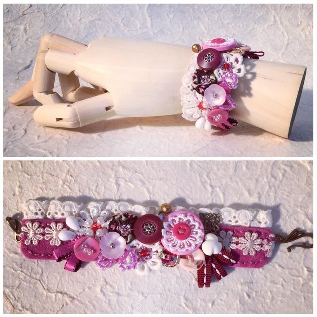 cuffs bracelet  #5(pink)