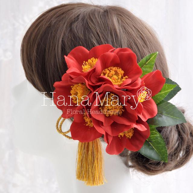 赤椿の髪飾り
