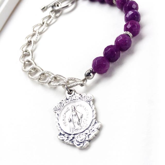 紫と薔薇のマリア(不思議のメダイのゴ...