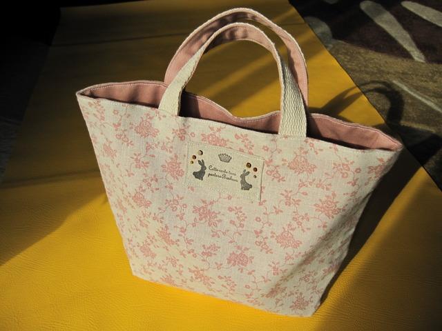 姫系ハンドメイドピンクのバラ★お弁当袋やお買い物に