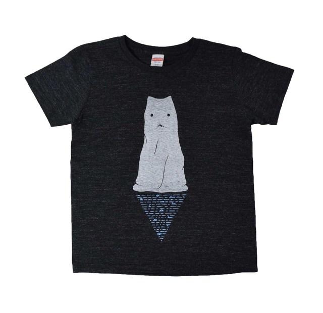 布の中に猫か犬がいるTシャツ レディ...