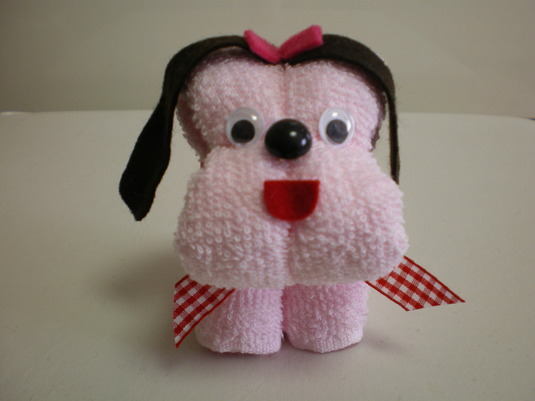 タオルわんこ(犬/ピンク)