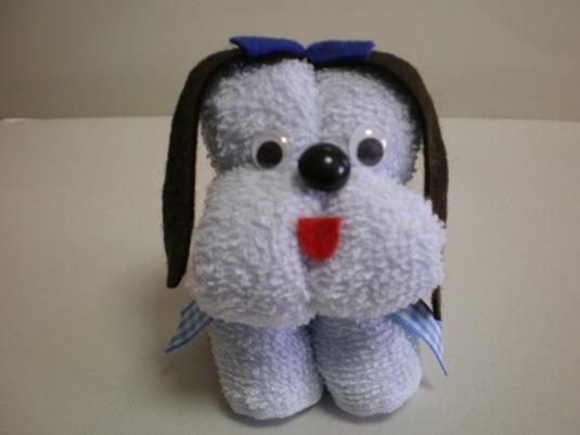 タオルわんこ(犬/水色)