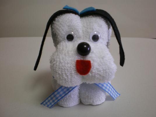 タオルわんこ(犬/白)