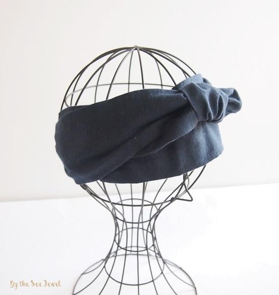 コットンリネン Headband ヘアバンド ...