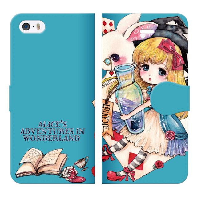 iPhone5〜7手帳ケース【不思議の国のア...
