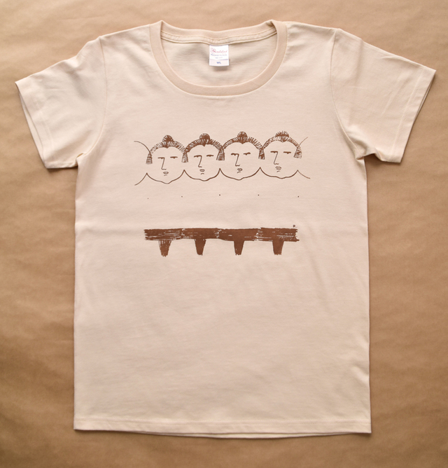 関取のシルクスクリーンプリントTシャツ