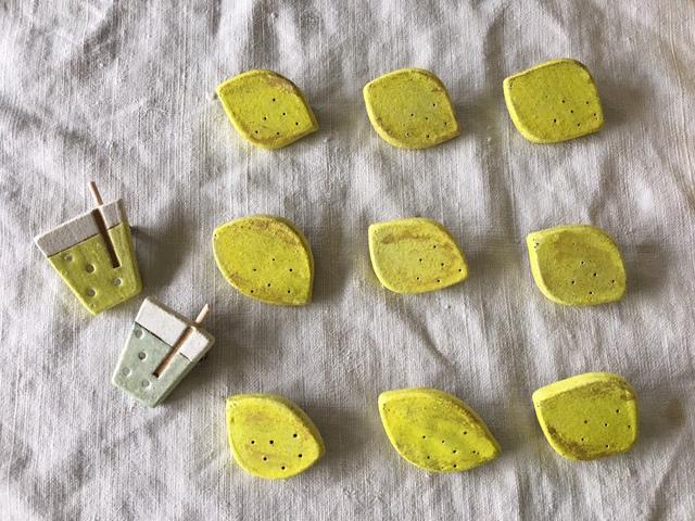 【粘土】レモンのブローチ*