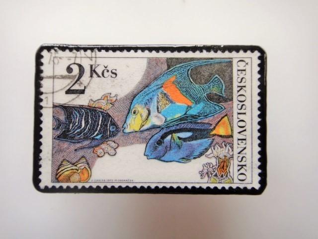 チェコ 魚切手ブローチ 2801