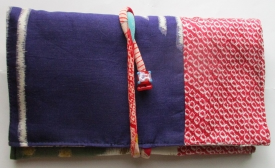 送料無料 銘仙と絞りの羽織で作った和...