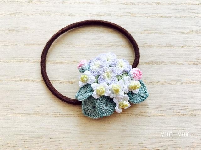 草花のブーケヘアゴム5