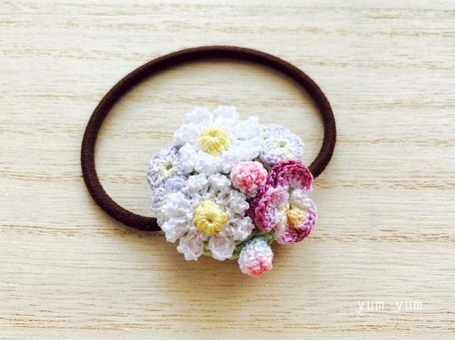 草花のブーケヘアゴム6