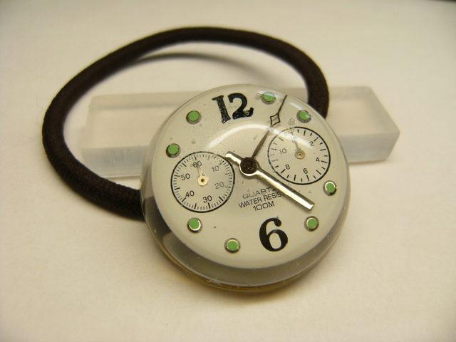 時計のヘアゴム(文字盤)