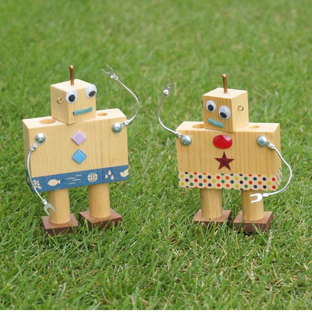 木のロボット キットor完成品