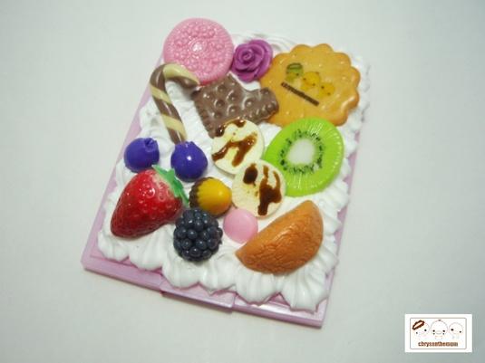 【値下げ】フルーツたっぷりピンクの鏡