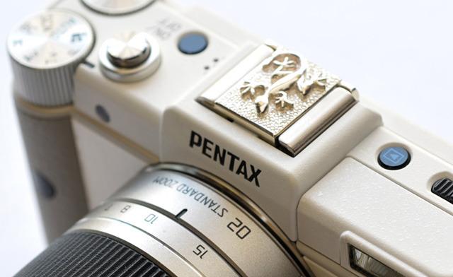 PENTAX用シルバー製カメラホットシューカバー(トカゲ)