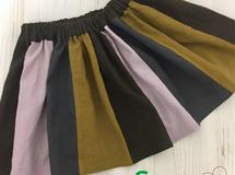 ハーフリネン?色切替スカート