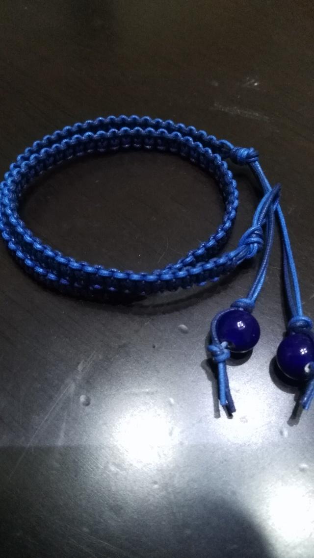 2色ヒモ編み2重ブレスレット ★小さめ★